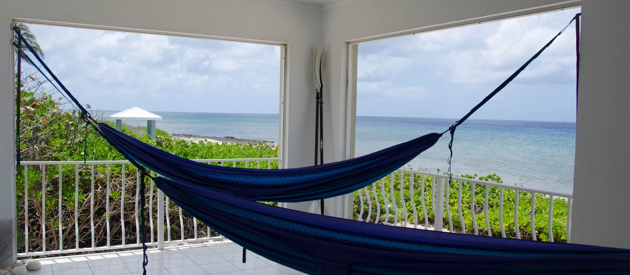 Hammocks off master suite for reading or napping...