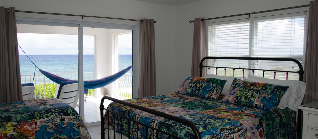 2nd Bedroom King & Twin Bed, with sea & bluff views!